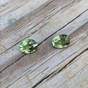 Green Tourmaline faceted stone ready to mount